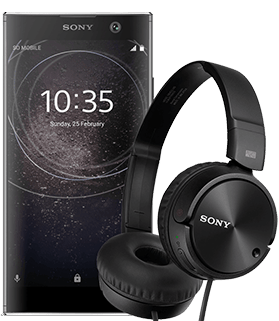 Sony Xperia XA2 + słuchawki