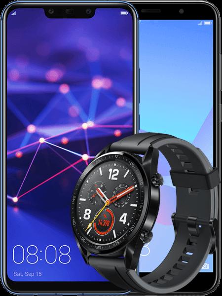 Huawei Mate 20 lite + HTC U12 life + zegarek Huawei Watch GT Sport