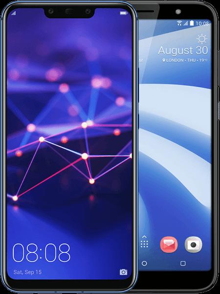 Huawei Mate 20 lite + HTC U12 life