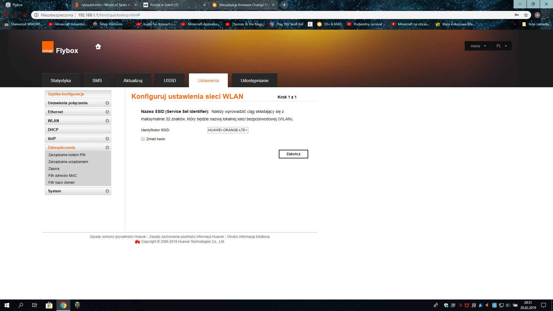 Rozwiązano: Przekierowanie portów Flybox LTE+ czyli Huawei