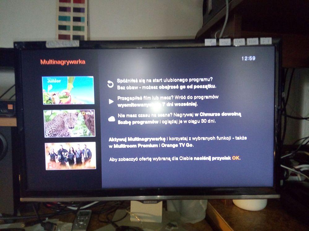 Stan aktualny multinagrywarki po udanym wyłączeniu